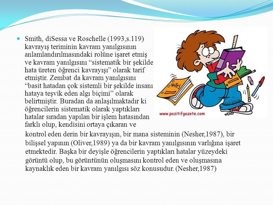 Smith, diSessa ve Roschelle (1993,s