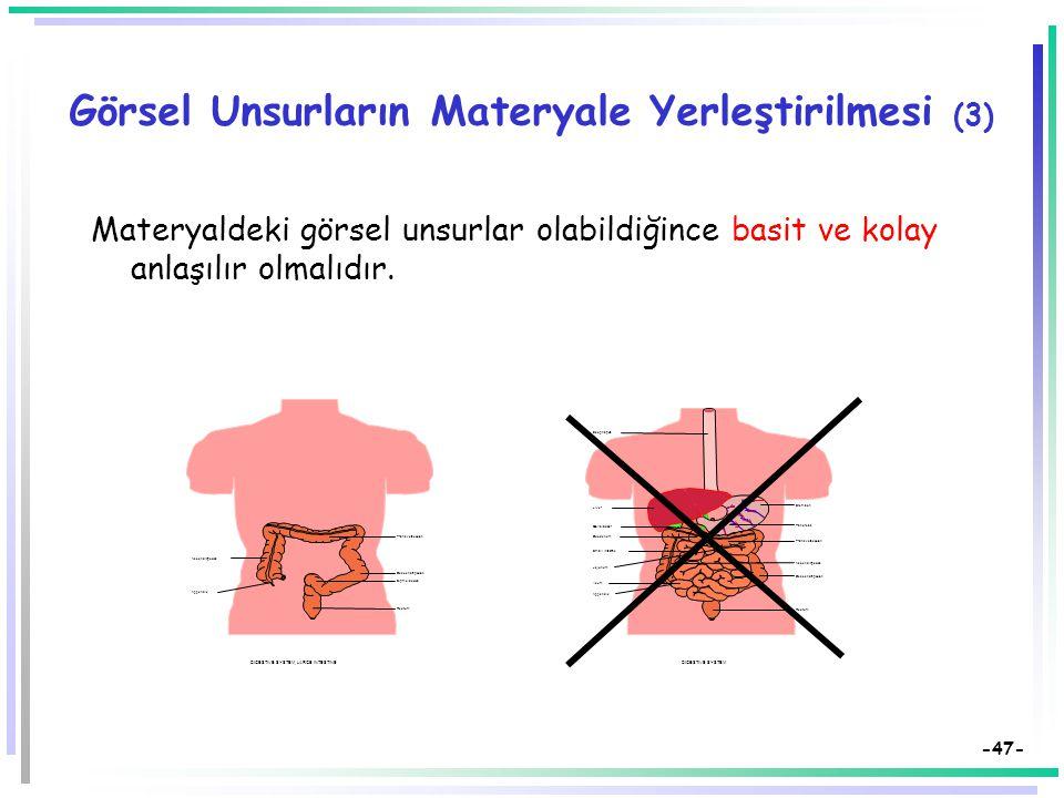 Görsel Unsurların Materyale Yerleştirilmesi (3)