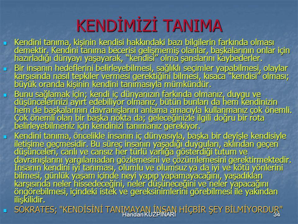 KENDİMİZİ TANIMA