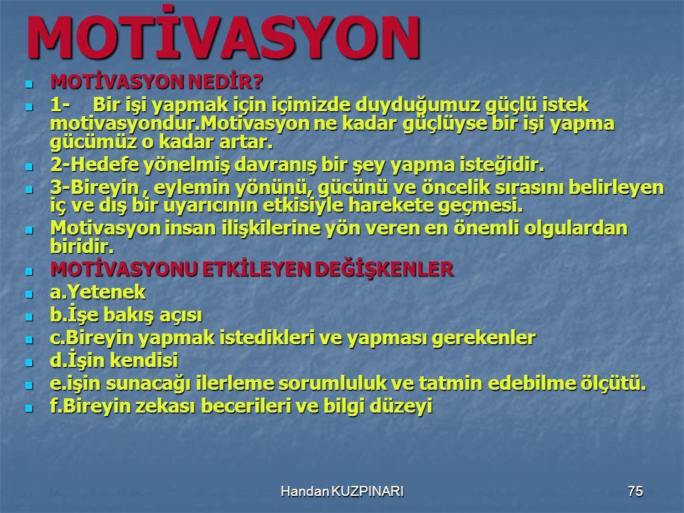 MOTİVASYON MOTİVASYON NEDİR