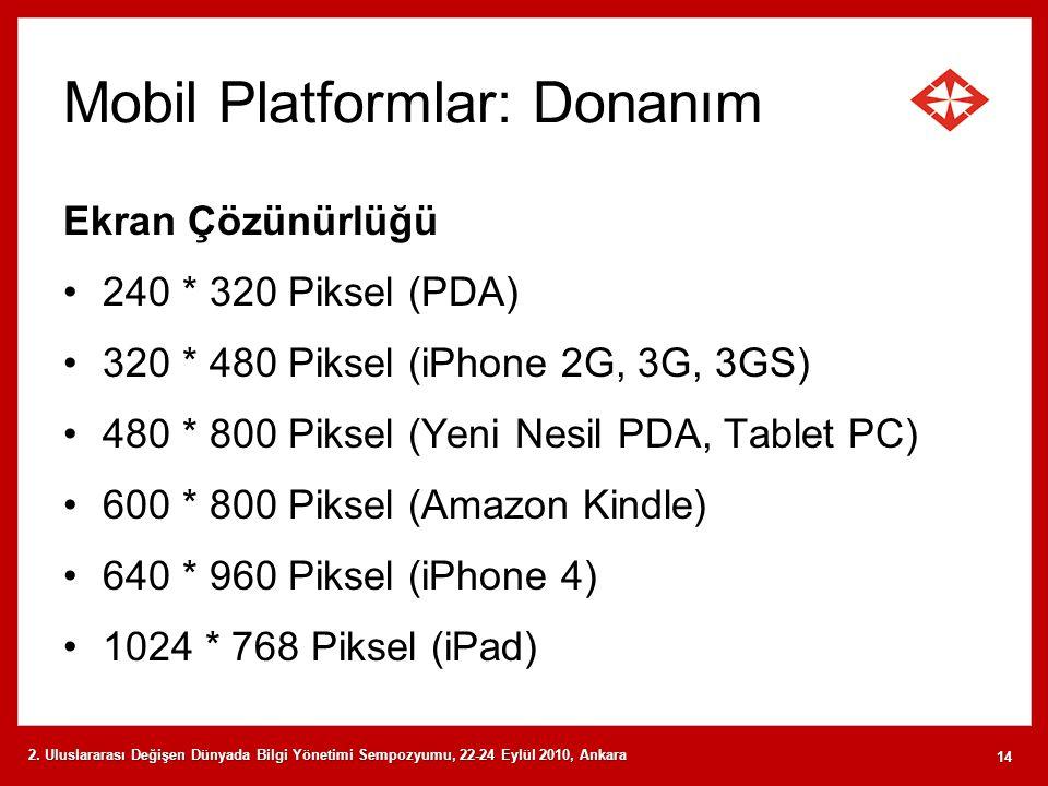 Mobil Platformlar: Donanım