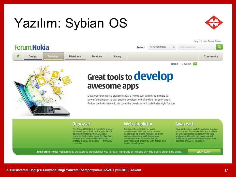 Yazılım: Sybian OS 2.