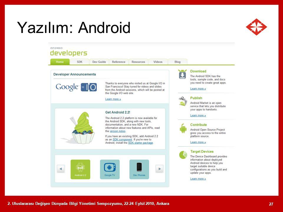 Yazılım: Android 2.