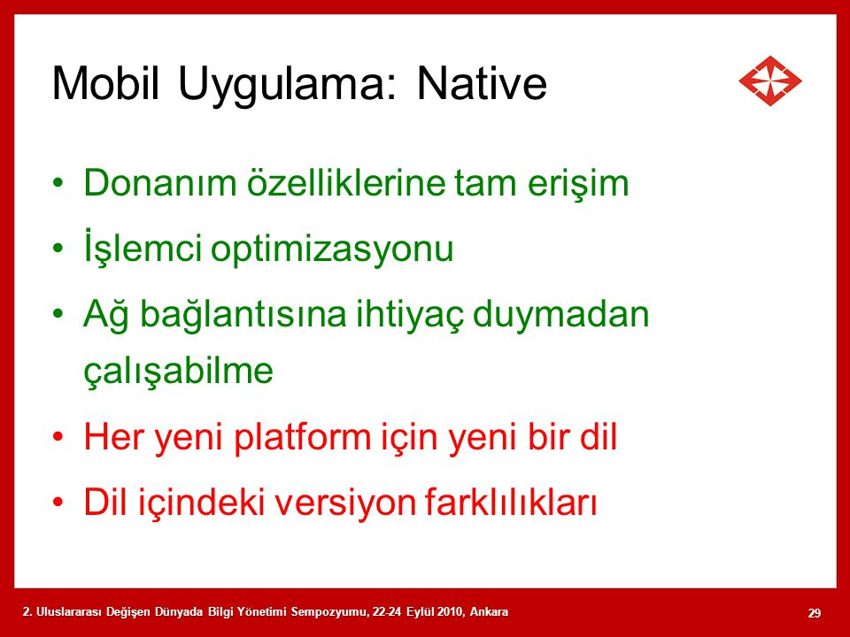 Mobil Uygulama: Native