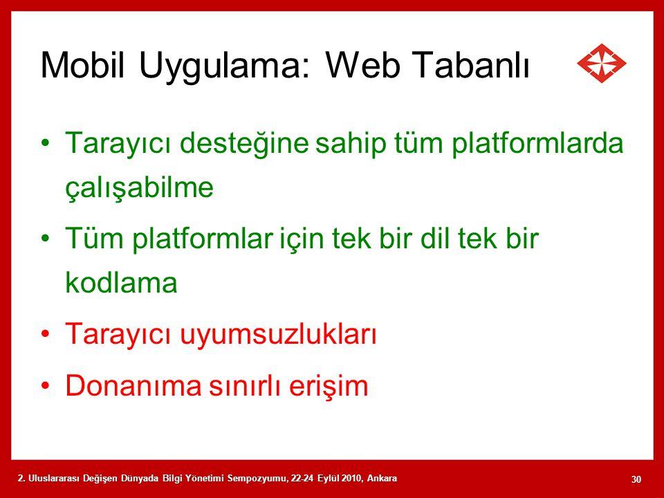 Mobil Uygulama: Web Tabanlı