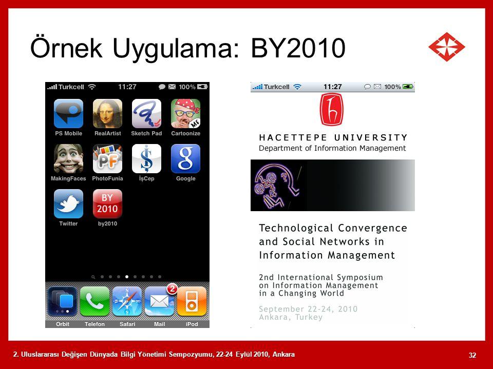 Örnek Uygulama: BY2010 2.
