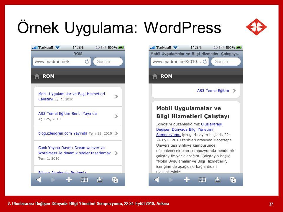 Örnek Uygulama: WordPress