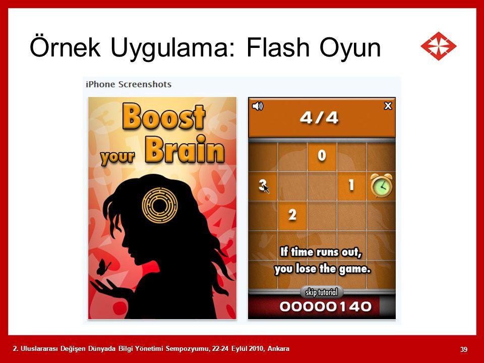 Örnek Uygulama: Flash Oyun