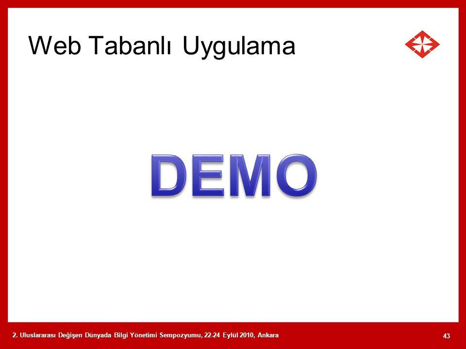 DEMO Web Tabanlı Uygulama