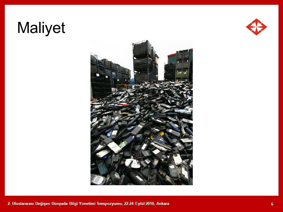 Maliyet 2. Uluslararası Değişen Dünyada Bilgi Yönetimi Sempozyumu, 22-24 Eylül 2010, Ankara