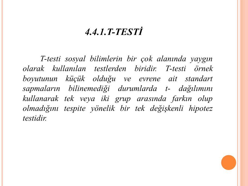 4.4.1.T-TESTİ