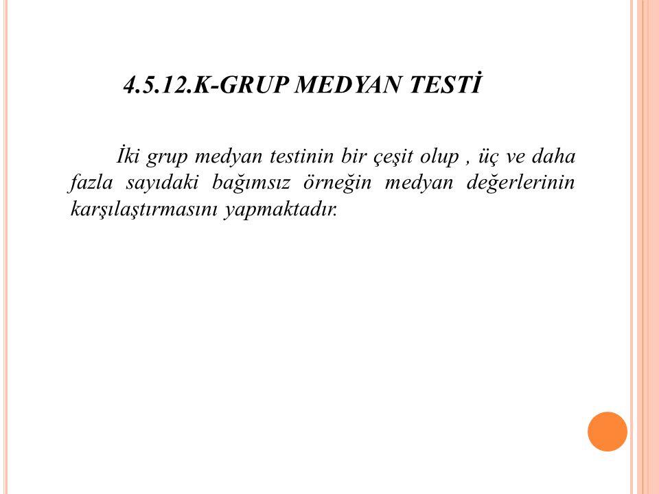 4.5.12.K-GRUP MEDYAN TESTİ