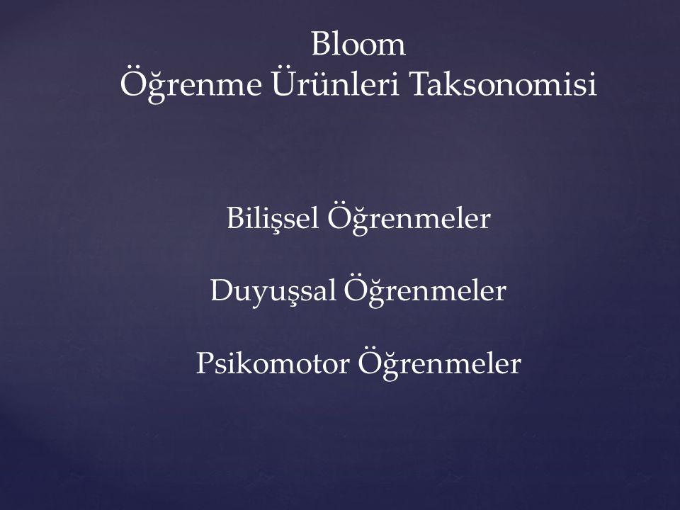 Öğrenme Ürünleri Taksonomisi