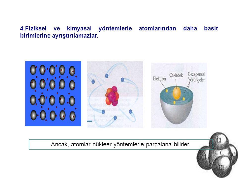 Ancak, atomlar nükleer yöntemlerle parçalana bilirler.