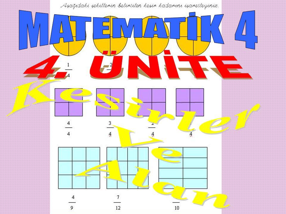 MATEMATİK 4 4. ÜNİTE Kesirler Ve Alan