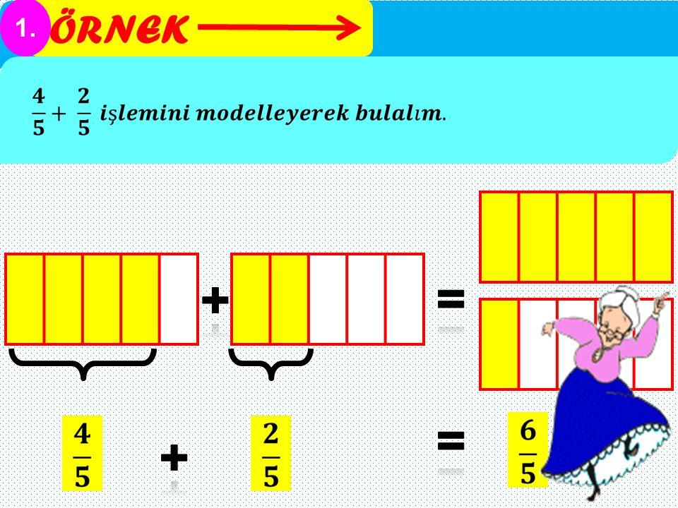 ÖRNEK 1. + = = +