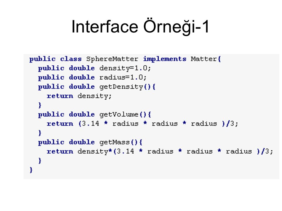 Interface Örneği-1