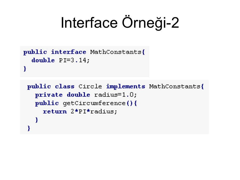 Interface Örneği-2