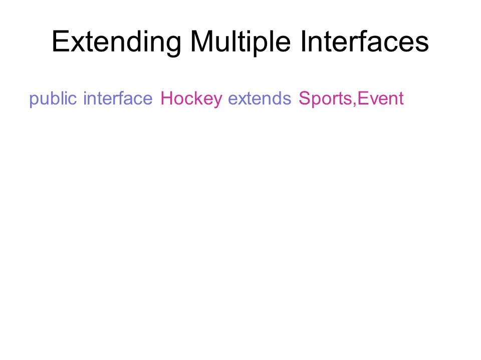 Extending Multiple Interfaces