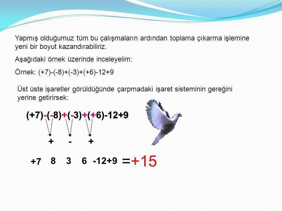 =+15 (+7)-(-8)+(-3)+(+6)-12+9 (+7)-(-8)+(-3)+(+6)-12+9 + - + +7 8 3 6