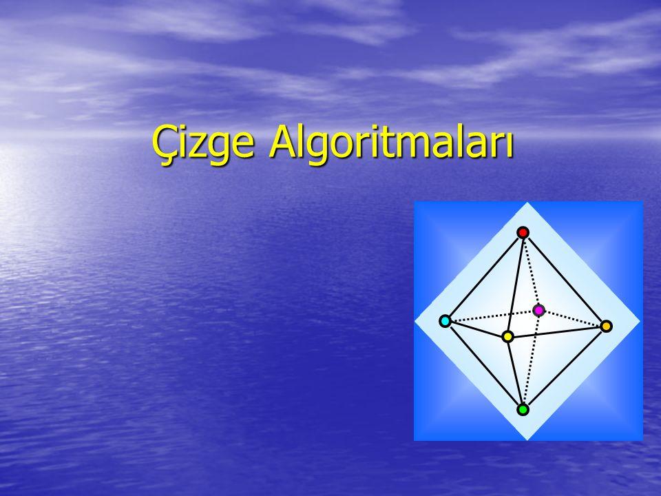 Çizge Algoritmaları