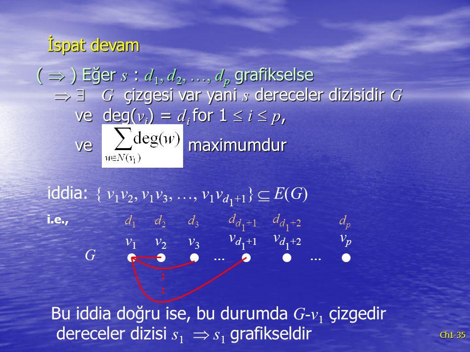 iddia: { v1v2, v1v3, …, v1vd1+1}  E(G)