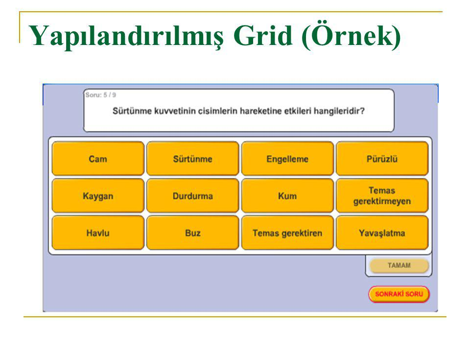 Yapılandırılmış Grid (Örnek)