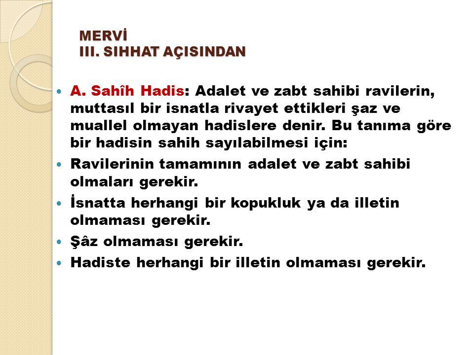MERVİ III. SIHHAT AÇISINDAN