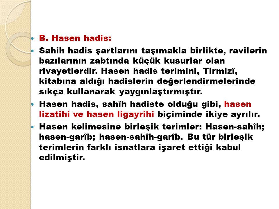 B. Hasen hadis: