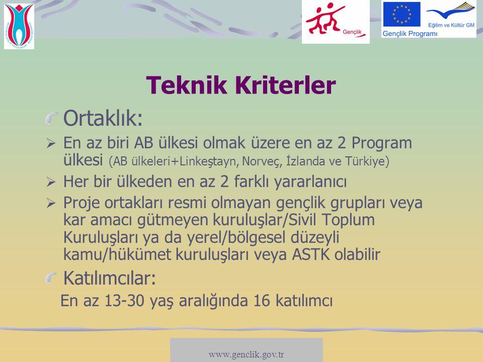 Teknik Kriterler Ortaklık: Katılımcılar: