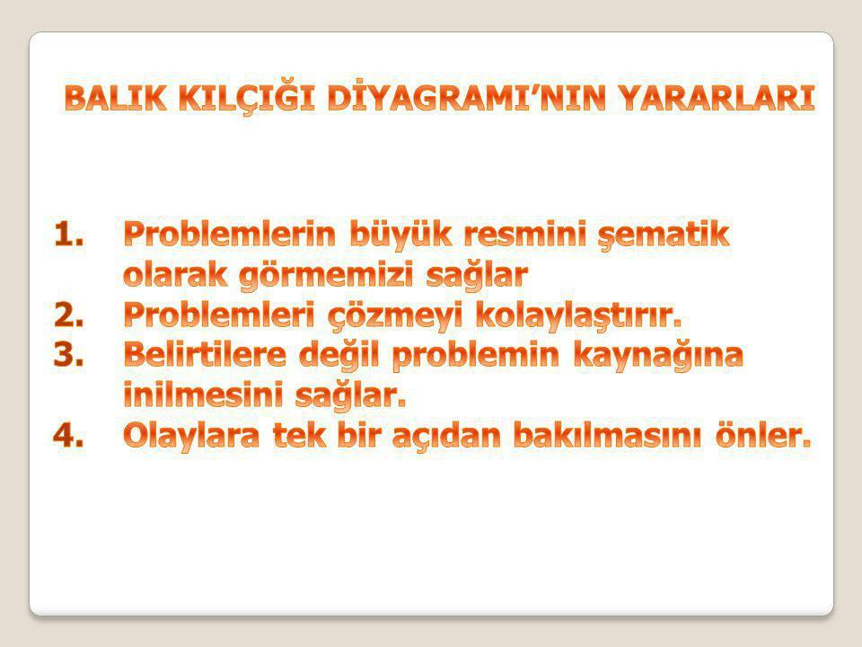 BALIK KILÇIĞI DİYAGRAMI'NIN YARARLARI