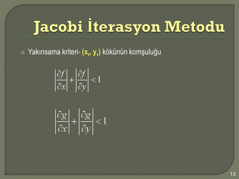 Jacobi İterasyon Metodu