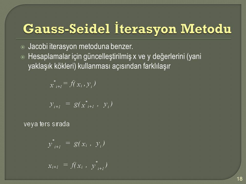 Gauss-Seidel İterasyon Metodu