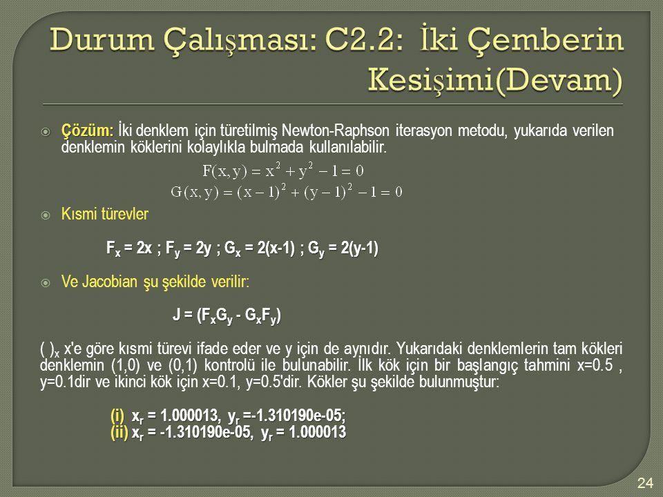 Durum Çalışması: C2.2: İki Çemberin Kesişimi(Devam)