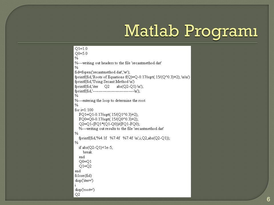 Matlab Programı