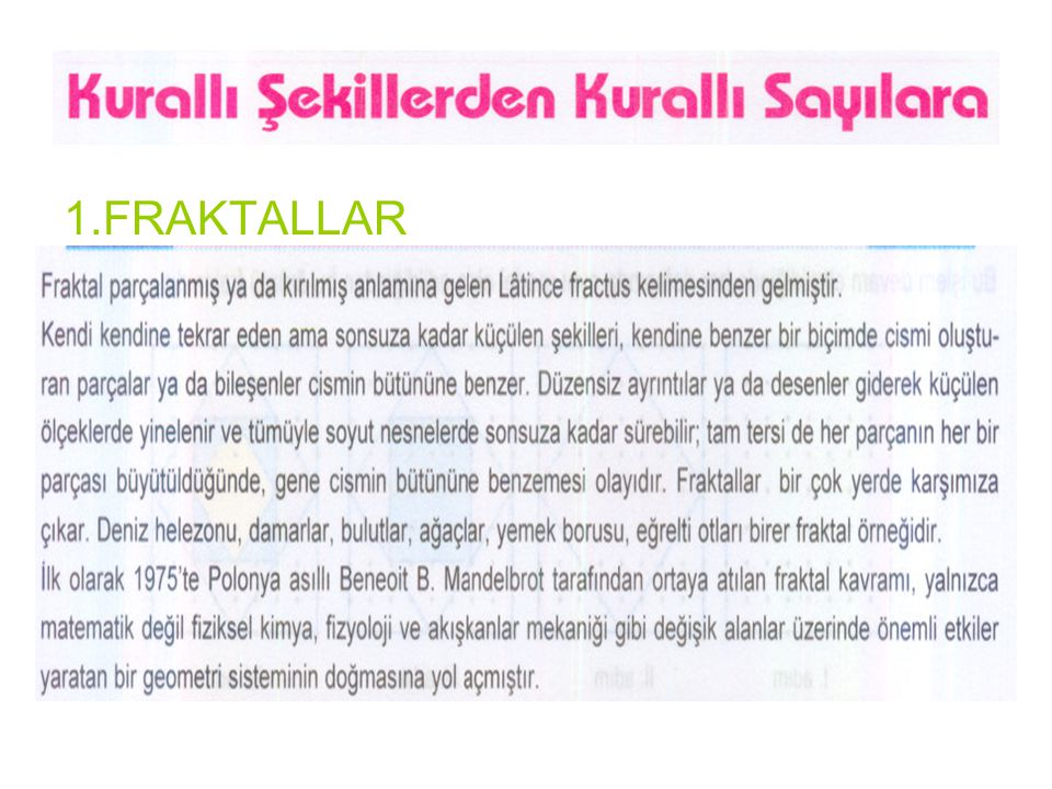 1.FRAKTALLAR
