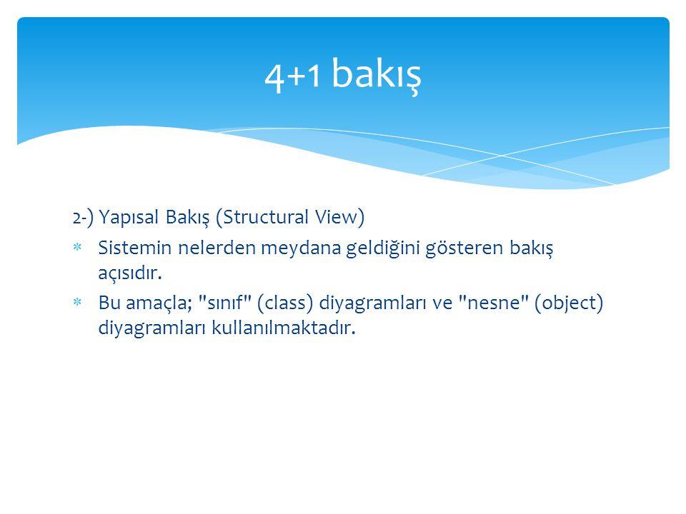 4+1 bakış 2-) Yapısal Bakış (Structural View)