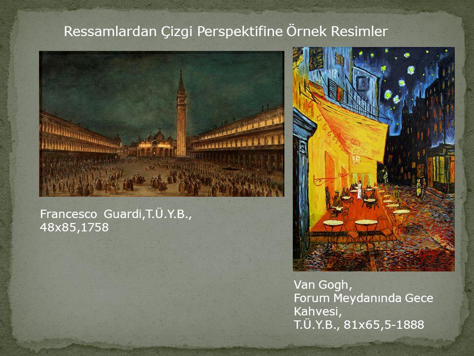 Ressamlardan Çizgi Perspektifine Örnek Resimler