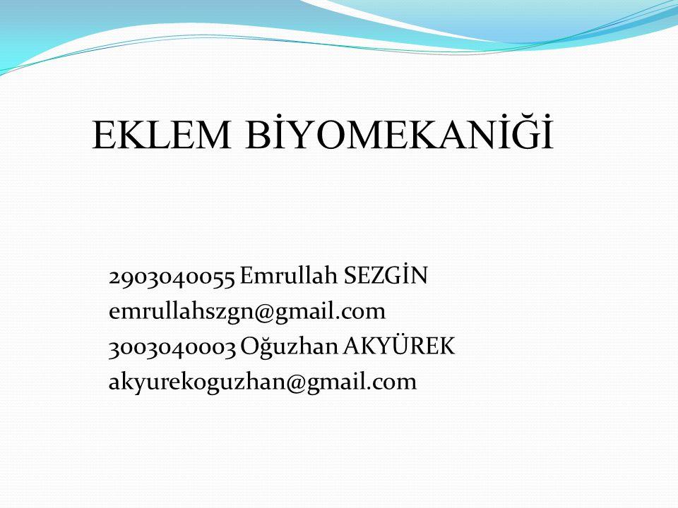 EKLEM BİYOMEKANİĞİ 2903040055 Emrullah SEZGİN emrullahszgn@gmail.com