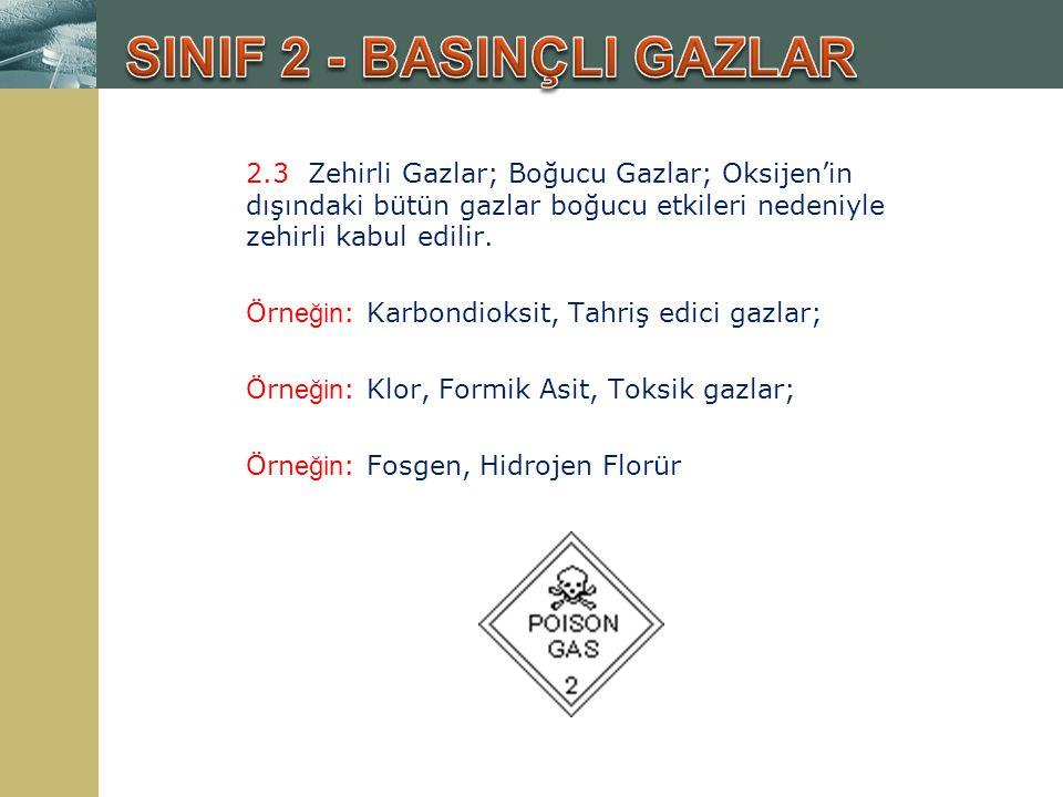 SINIF 2 - BASINÇLI GAZLAR
