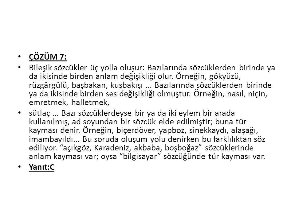 ÇÖZÜM 7: