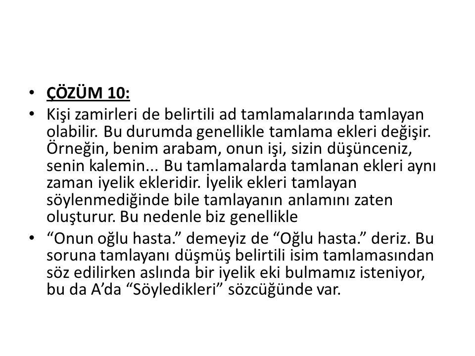 ÇÖZÜM 10: