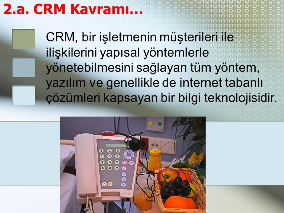 2.a. CRM Kavramı…