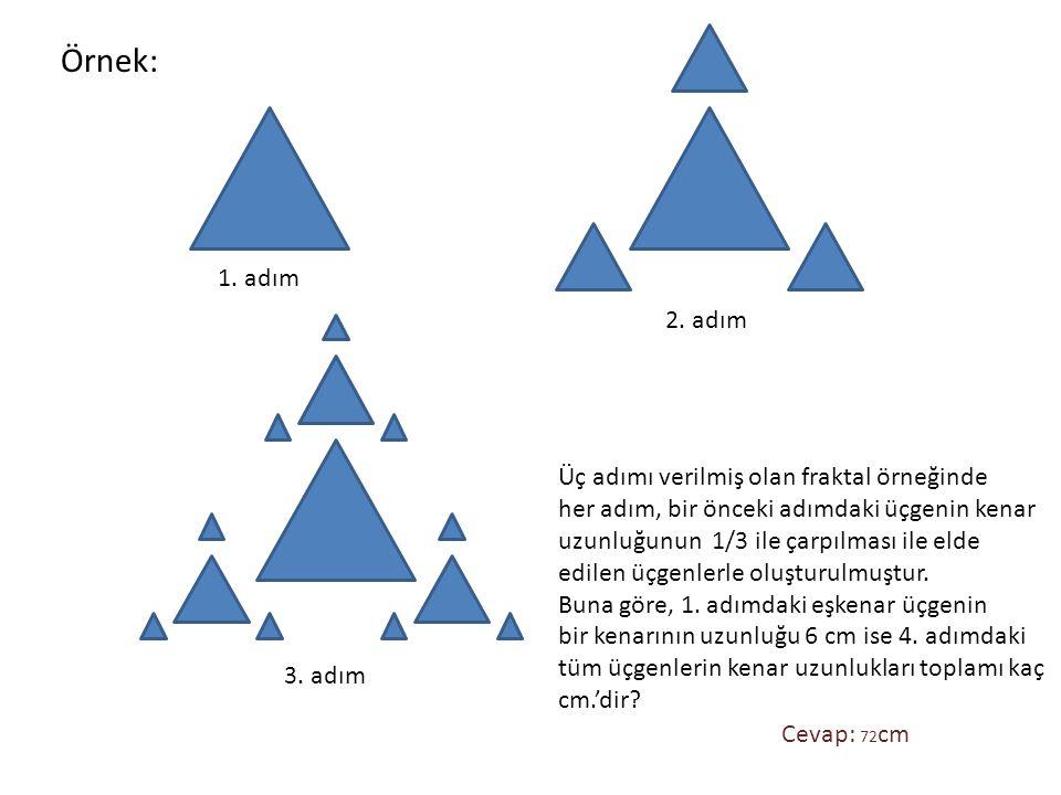 Örnek: 1. adım 2. adım Üç adımı verilmiş olan fraktal örneğinde