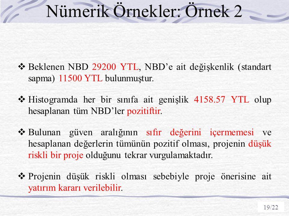 Nümerik Örnekler: Örnek 2