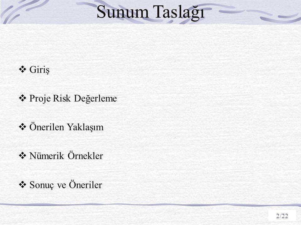 Sunum Taslağı Giriş Proje Risk Değerleme Önerilen Yaklaşım