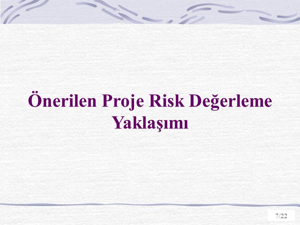 Önerilen Proje Risk Değerleme Yaklaşımı