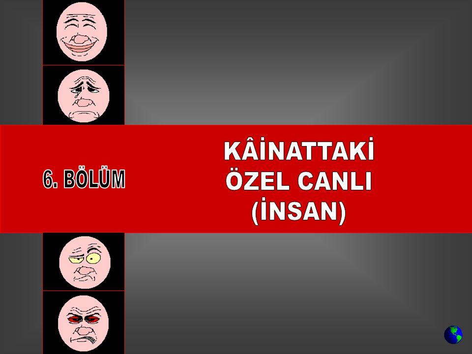 KÂİNATTAKİ ÖZEL CANLI (İNSAN) 6. BÖLÜM