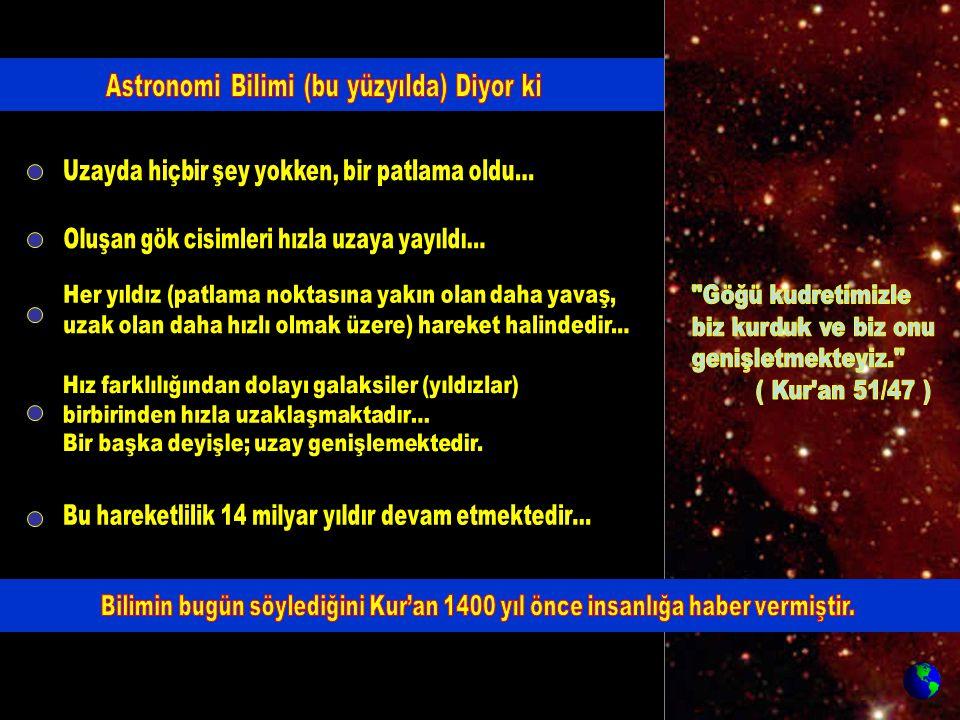 Astronomi Bilimi (bu yüzyılda) Diyor ki