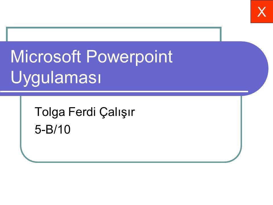 Microsoft Powerpoint Uygulaması